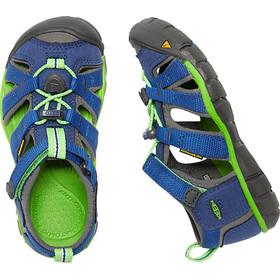 Keen Seacamp II CNX Sandals Youth True Blue/Jasmine Green